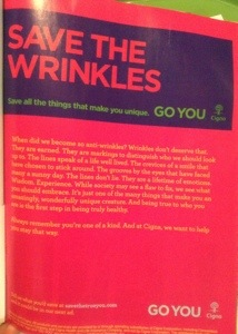 Save the wrinkles