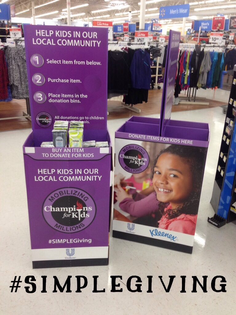 Champions for Kids #SIMPLEGiving Display #shop