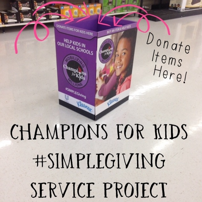 Champions for Kids #SIMPLEGiving Service Project #shop