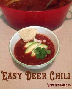 Easy Deer Chili