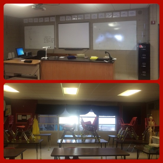 Front and Back of my Classroom
